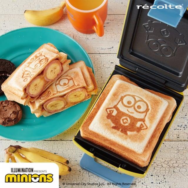 日本家電品牌recolte小小兵造型鬆餅機、熱壓吐司機。(誠品提供)