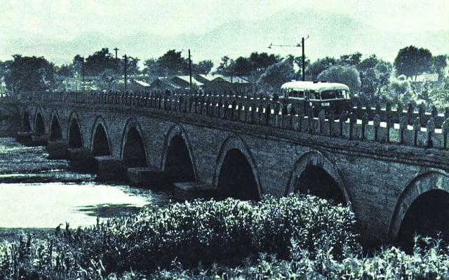 1965年的盧溝橋。(公有領域)