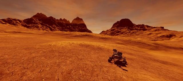 火星表面藝術假想圖。(ShutterStock)