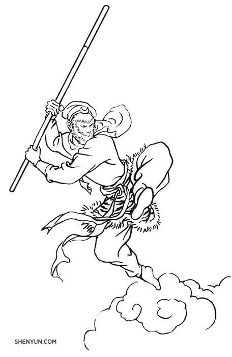 黃景洲扮演《西遊記》的美猴王孫悟空已經四個季度了,今天他透露了一個小祕密——神韻舞臺上使用過的道具當中,他最喜歡的是美猴王的如意金箍棒。(神韻藝術團官網提供)