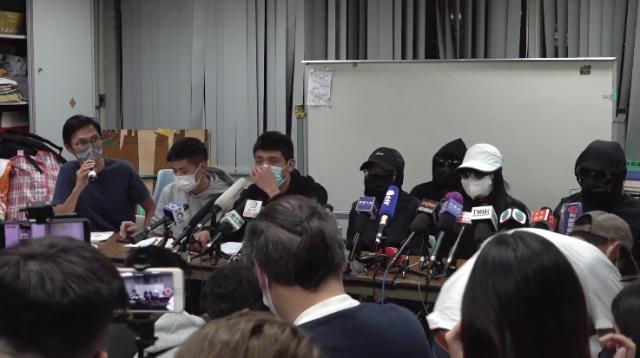 12月28日,中共深圳鹽田區法院對12港人案進行祕密審判。港人家屬召開記者會。(影片擷圖)