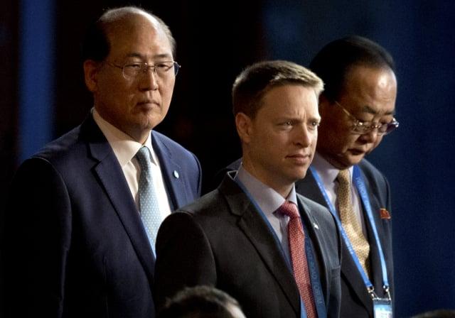 圖為2017年5月14日,時任美國國家安全委員會東亞區資深主任的博明,抵達北京,參加一帶一路會議。( MARK SCHIEFELBEIN/AFP via Getty Images)