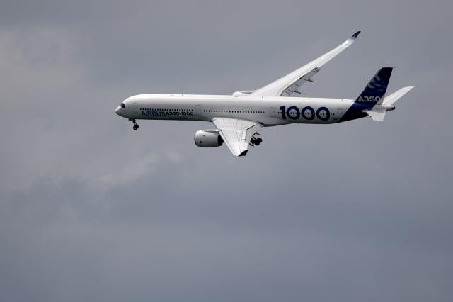空客A350-1000資料圖。(ERIC PIERMONT/AFP)