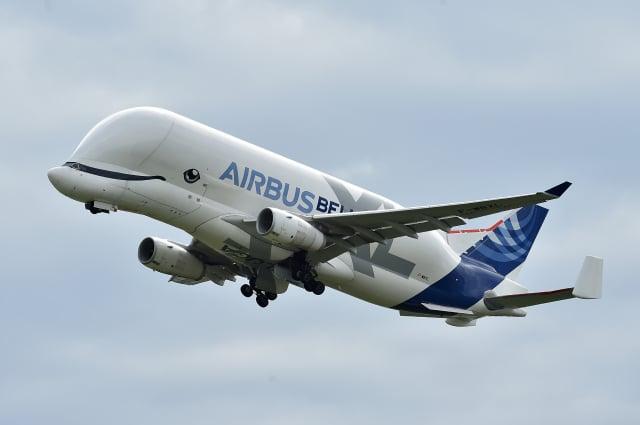 鯨形的空中客車Beluga XL是天空中最大的「野獸」之一,於2020年1月分開始提供全面服務。(REMY GABALDA/AFP)