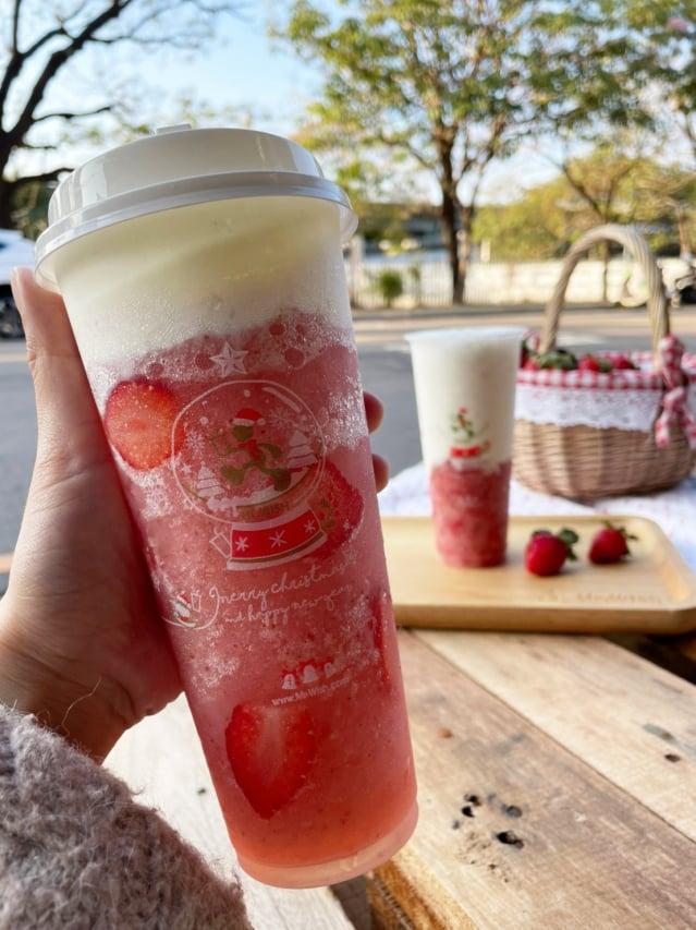 視覺和味覺雙重享受的草莓芝芝。(Mr.Wish提供)
