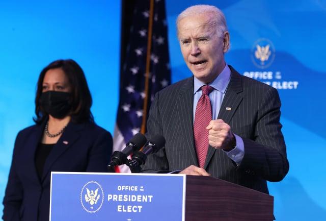 美國總統當選人拜登1月8日表示,本週將公布規模達數兆美元的疫情紓困計畫。(Chip Somodevilla/Getty Images)