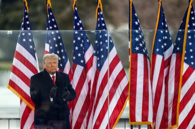 美國眾議員蓋茨表示,總統川普未來仍將是全球最有影響力的共和黨人士。圖為川普1月6日在華府「停止竊選」集會上演說。(Tasos Katopodis/Getty Images)