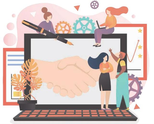 從調整心態入手,短短的問候語就可成為建立良好工作關係、交到趣味相投朋友的金鑰匙。(123RF)