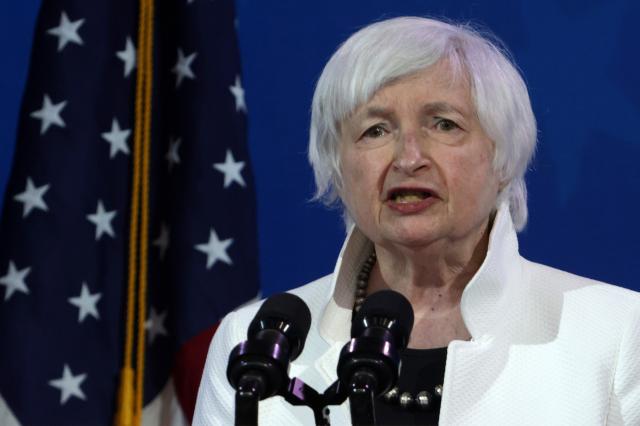 美國的財政部長提名人葉倫(Janet Yellen)資料照。(Alex Wong/Getty Images)