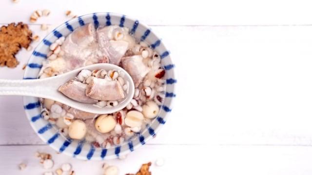 「四神湯」是一個對於全體質包含孕婦都適合的平補燉湯。(123RF)