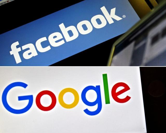 澳洲政府將討論世界上首部媒體業公平交易規範,要求谷歌和臉書等社交媒體平臺必須向澳洲媒體機構支付原創新聞費用。(LEON NEAL,LOIC VENANCE/AFP via Getty Images)