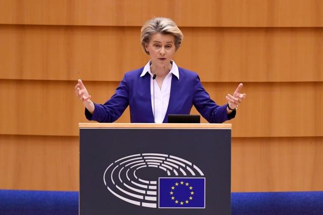 歐盟委員會主席范德賴恩(Ursula von der Leyen)。( JOHN THYS/AFP via Getty Images)