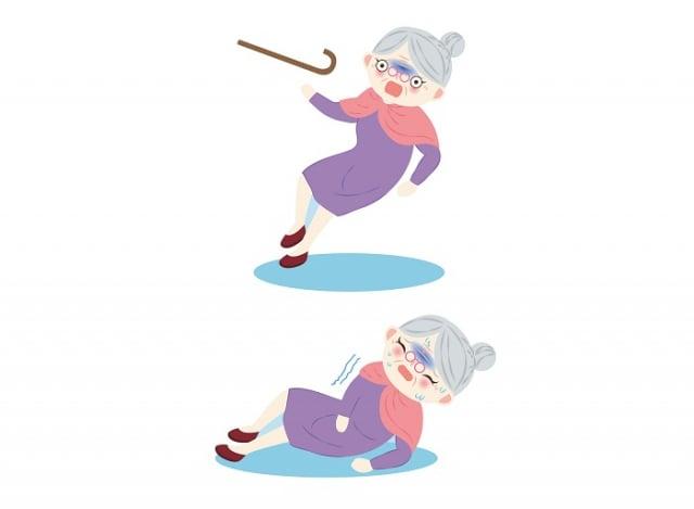 造成高齡者骨折的兩個重要原因,就是「骨質疏鬆」與「跌倒」。(123RF)