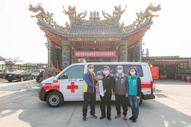 鄭文燦出席「桃園新屋廣濟堂捐贈桃園市政府救護車」活動。(桃園市府新聞處 提供)