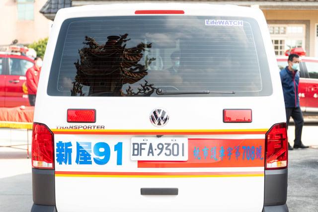 新屋廣濟堂捐贈救護車1部,將提供消防局新屋分隊使用。