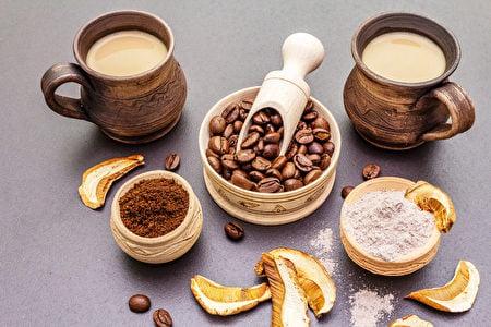咖啡愛好者的新寵—蘑菇咖啡。(Shutterstock)