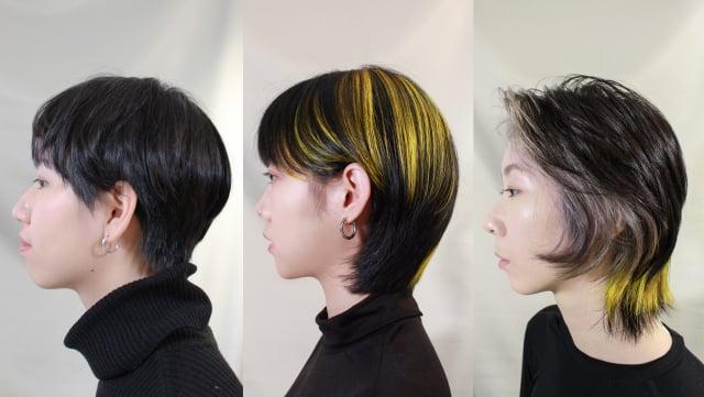 好剪才髮廊色彩指導造型師Rumi 與 Anouk欽點了三款髮型配色推薦。(好剪才提供)