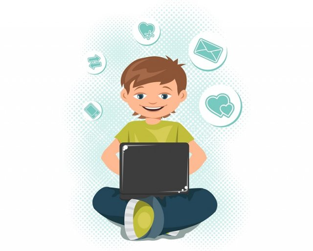 坐比動的時間長,上網時間過度也會影響身心狀況。  (123RF)