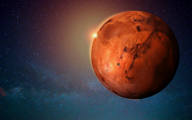 火星示意圖。(Pixabay)