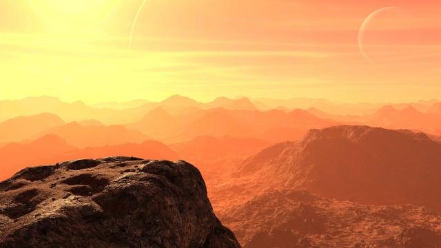 火星地表示意圖。(Pixabay)
