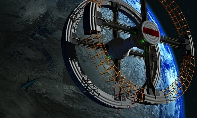 太空站示意圖(Pixabay)