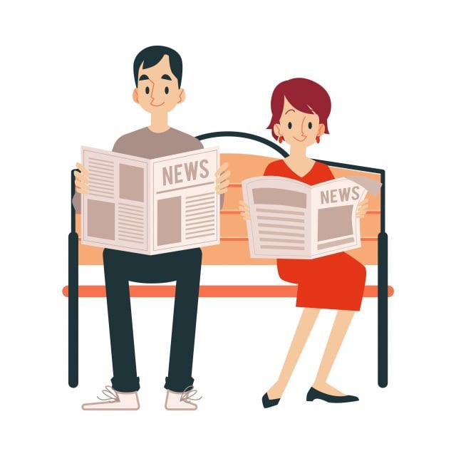 養成的讀報習慣,讓我即使回家,也繼續閱讀著這份報紙,好像變成了生活中的一部分。(123RF)