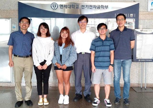 長庚大學工學院積極拓展海外實習據點。圖為韓國延世大學。