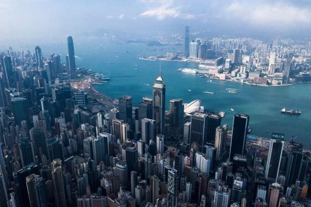 思佰益執行長北尾吉孝表示,由於香港實施《國安法》,計畫撤出香港的營運,因為「沒有自由,就沒有金融業務」。(DALE DE LA REY/AFP via Getty Images)