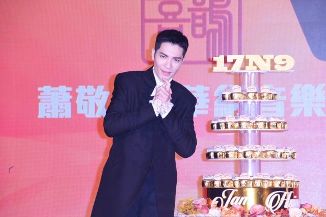 為了慶祝蕭敬騰4度簽約,現場打造成「世紀婚禮」。(記者黃宗茂/攝影)