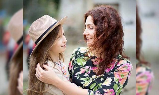 娜塔麗婭.馬蒂紐基和女兒安娜。(由娜塔麗婭.馬蒂紐基提供)
