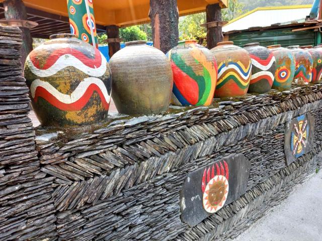 魯凱族多納部落的彩繪陶甕。