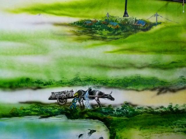 穀倉內早期農村的彩繪。