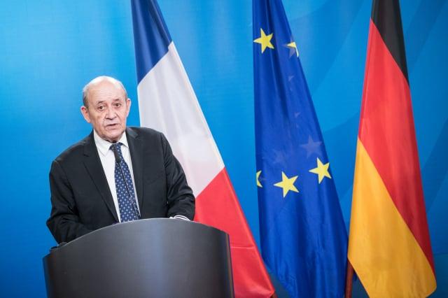 圖為法國外交部長德里安資料照。(STEFANIE LOOS/various sources/AFP)