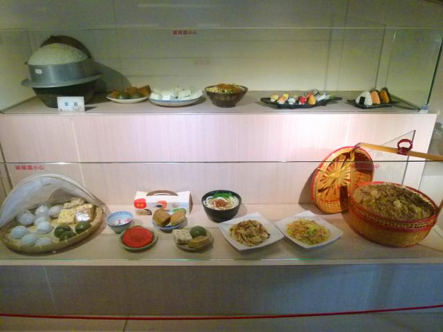 米國學校展示各種米食。