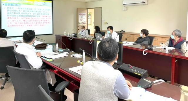 桃園療養院召開110年度第1次內部控制會議暨廉政會報安全維護會議。