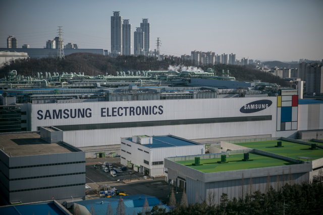 圖為三星的工廠。(  Jean Chung/Getty Images)