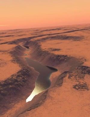 岩石星球「火星」在數十億年前曾充滿著湖泊和海洋。(法新社)