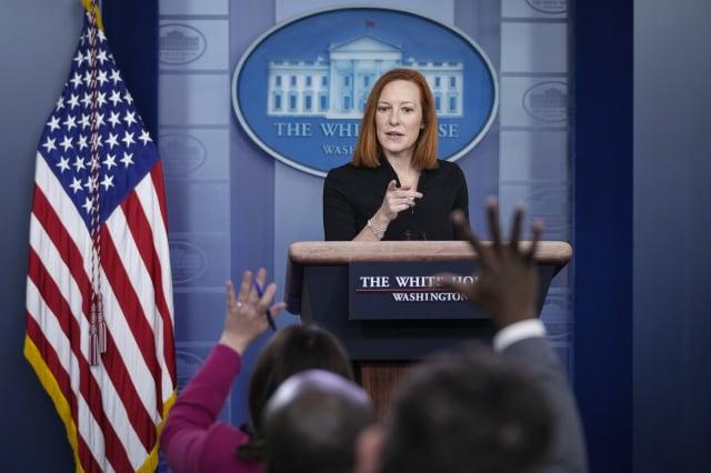 白宮發言人莎琪。(Drew Angerer/Getty Images)