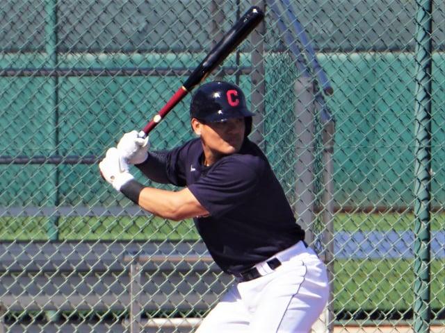 張育成在美國職棒大聯盟春訓熱身賽打出好成績。(中央社)