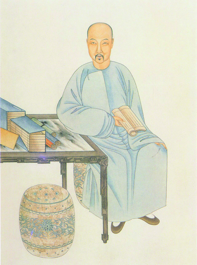 《清代學者像傳》中的納蘭性德像。( 公有領域 )