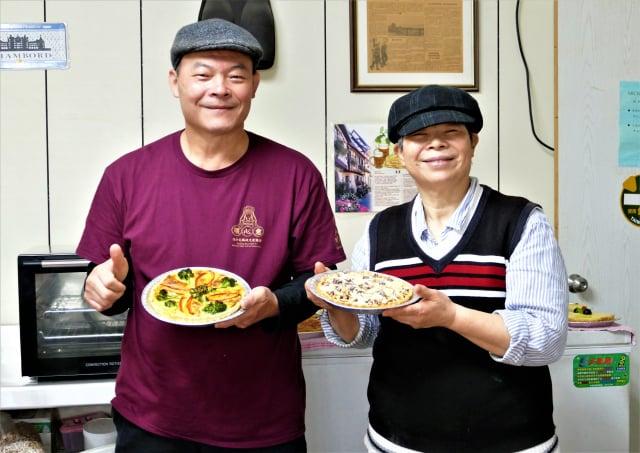 生長在臺灣卻在法國住了27年的Michelle和弟弟,在自家農舍改建的廚房中做了6年的法式派餅。(攝影/賴瑞)