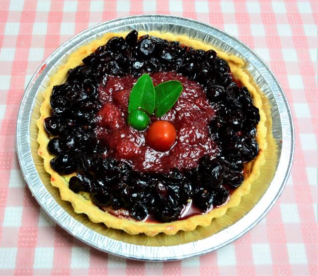 特製的蔓越草莓醬派,用草莓醬搭配蔓越莓果粒。(攝影/賴瑞)
