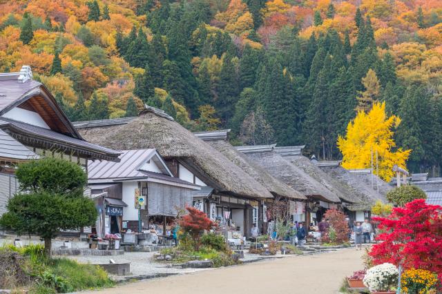 秋季大內宿。(Shutterstock)