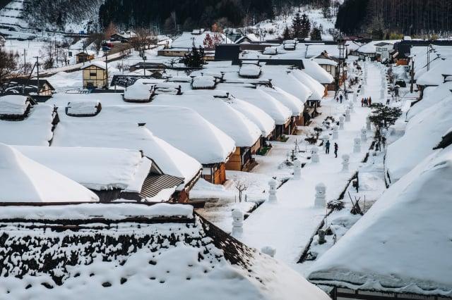 冬日大內宿。 (Shutterstock)