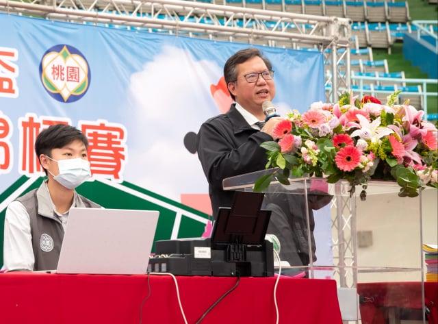 桃園市長鄭文燦表示,自接種到現在,身體狀況很良好。(桃園市政府新聞處提供)