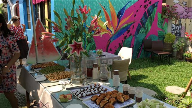 天堂鳥咖啡風味館在屏東市勝利星村開幕現場。(天堂鳥咖啡風味館提供)
