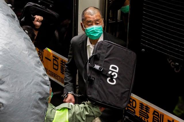 壹傳媒集團創辦人黎智英。(ISAAC LAWRENCE/AFP via Getty Images)