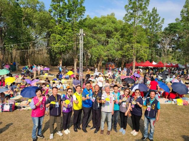 竹山鎮公所首度於竹山公園舉辦野餐會。(竹山鎮公所提供)
