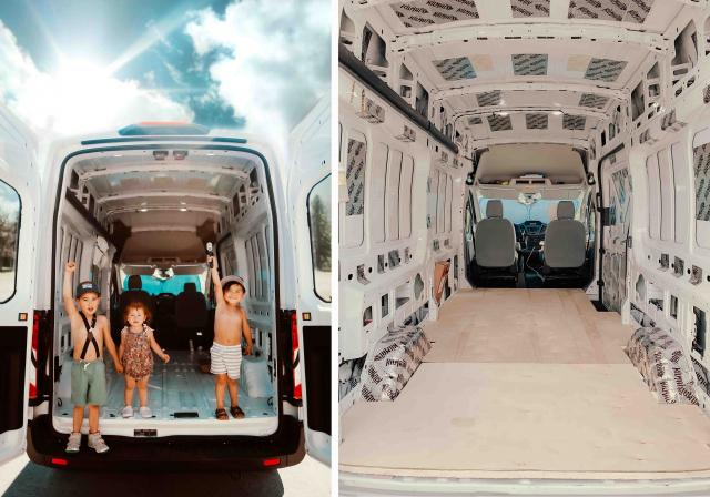 貨車改造前的空車廂。(由特米卡‧瑞斯康提供)