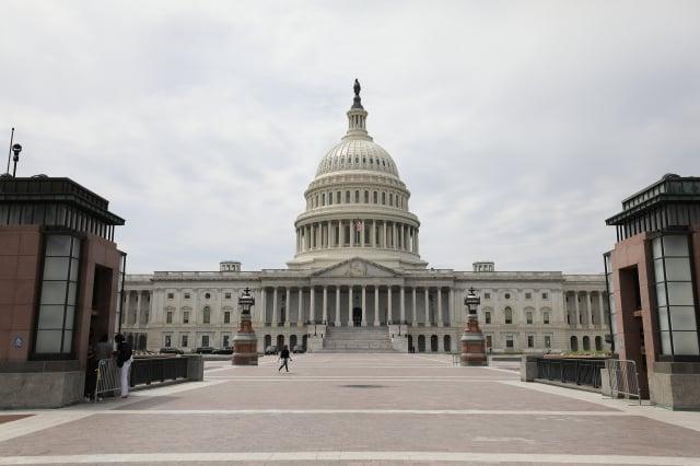 美國跨黨派眾議員19日提出「臺灣國際團結法案」(Taiwan International Solidarity Act),反對任何在沒有臺灣人民同意下,試圖改變臺灣地位的倡議。圖為美國國會。(中央社)
